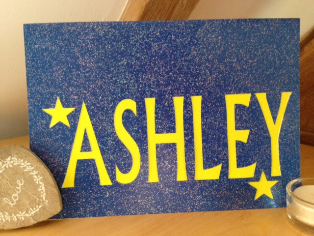 Custom Sparkly Personalised Card - Any name!   SHIPS FREE WORLDWIDE