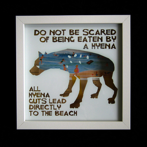 do not be scared - hyena guts lead to the beach