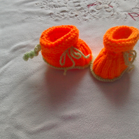 Halloween Orange booties