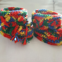Multi coloured Booties.... Price reduction....
