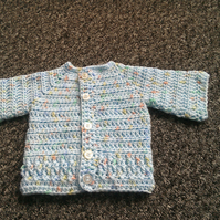 SALE....Baby boy's crocheted cardigan