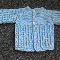 SALE...Baby boy's crocheted cardigan