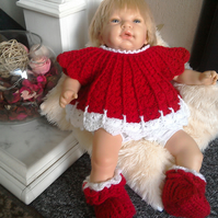 SALE....Christmas angel top and booties