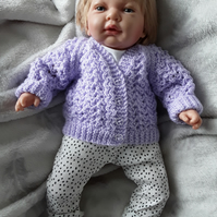 Baby girl v neck cardigan in lilac