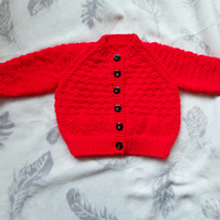 18 inch girl's cardigan in red