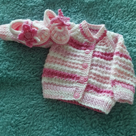 Newborn cardigan and shoes