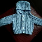 Baby boy aran hooded cardigan