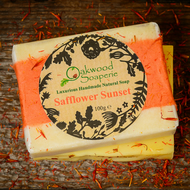 Safflower Sunset Handmade soap with Sweet Orange, Ylang ylang & Patchouli