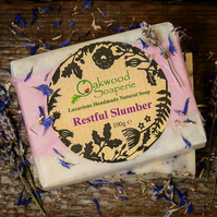 Restful Slumber handmade soap with lavender, bergamot and neroli oils