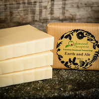 'Earth and Ale' handmade beer soap with patchouli oil.