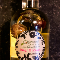 Ring O Roses Bath, Body and Massage Oil  with Romantic rose geranium oil.