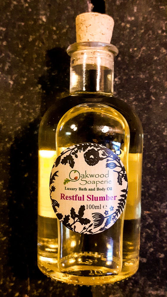 Restful Slumber Bath, Body and Massage Oil with lavender, bergamot and neroli
