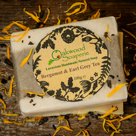 Earl Grey Tea Handmade Soap with Bergamot and Neroli essential oils.