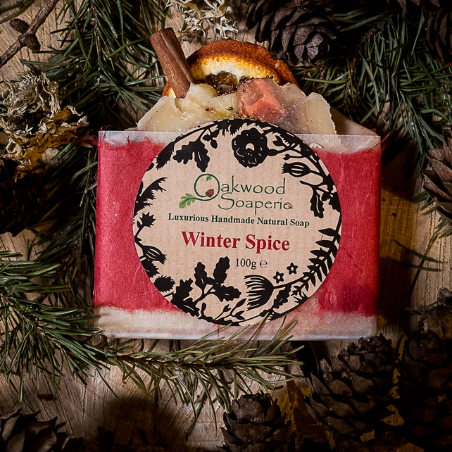 Winter Spice Handmade soap with Cinnamon, Sweet Orange oil and fresh cream