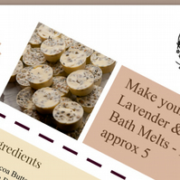Digital PDF recipe for my Lavender & Chamomile, cocoa butter Bath melts.