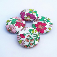 "Liberty Fabric Buttons ""Oh, pretty Liberty!"""