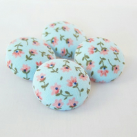 Fabric Buttons - Tiny Sprigs