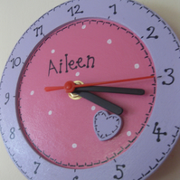 Personalised Wooden Clock