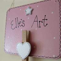 Personalised Wooden Art Plaque