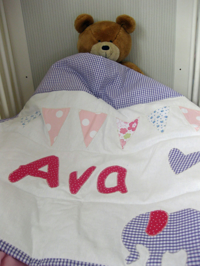 "Personalised Quilt 26"" x 35"""