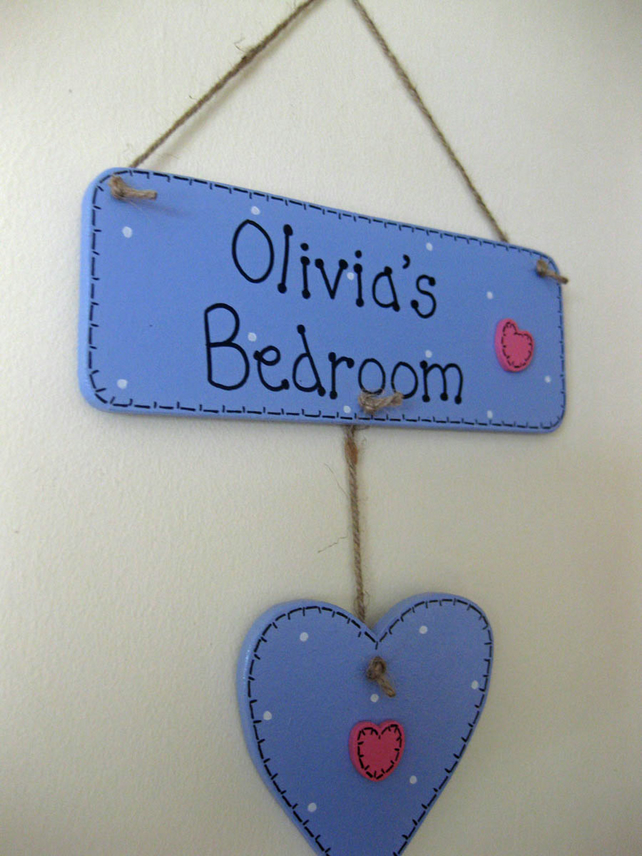 Personalised Wooden Heart or Star Door Plaque