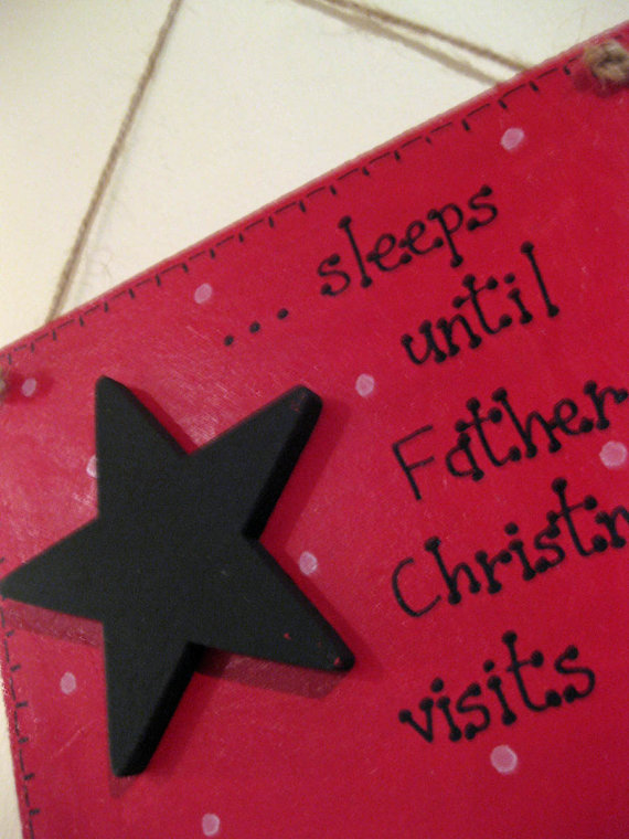 Personalised Wooden Countdown to Christmas Plaque