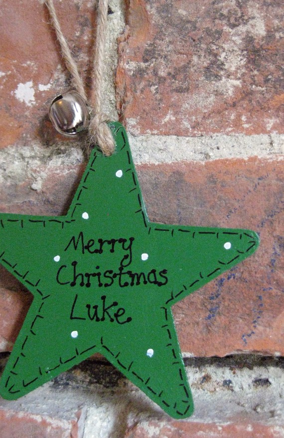 Personalised Wooden Christmas Star