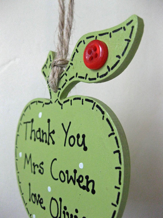 Personalised Wooden Apple Teacher Gift
