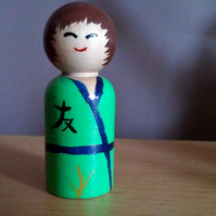 Tomodachi - Hand Painted Kokeshi Doll