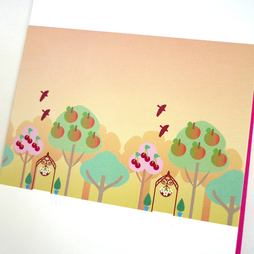 FREE SHIPPING 'Orchard' Greeting Card