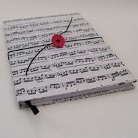 Vintage Sheet Music Covered NOTEBOOK... JOURNAL... Handmade..unique stationary..FREE P&P