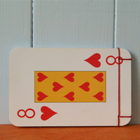Handmade notebook. Recycled playing cards.