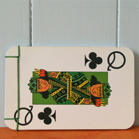 Handmade notebook. Playing cards. Queen & King.