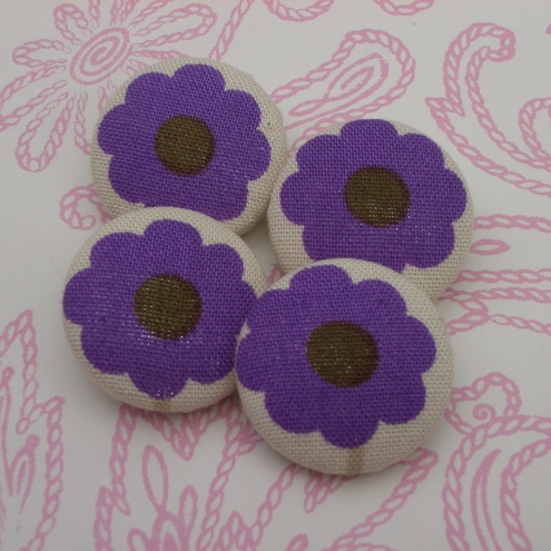 Flower fabric buttons