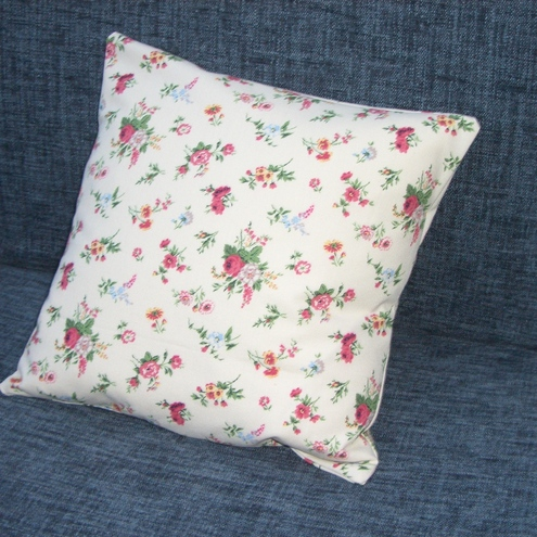 Vintage Laura Ashley fabric cushion