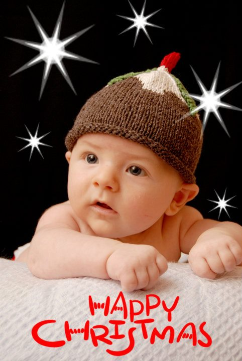 PATTERN FOR CHRISTMAS PUDDING BABY HAT KNITTING... - Folksy