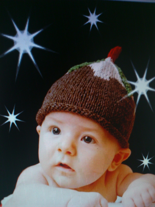 Hand Knitted Baby Christmas Pudding Hat Folksy