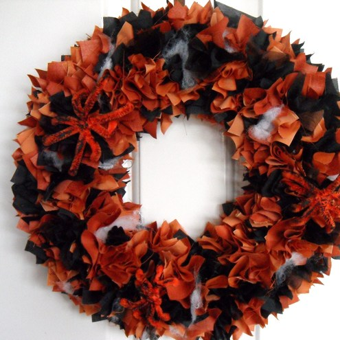 Halloween wreath door wall decoration folksy for 3 wreath door decoration