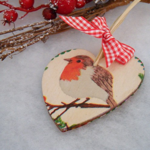 Scandinavian Christmas Tree Decoration - Robin