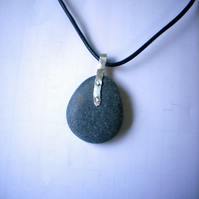 Natural Pebble pendant