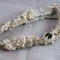 Vintage lace and beaded bracelet.