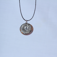 Orbits Copper and Silver Pendant