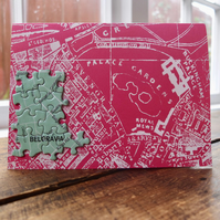 Jigsaw Vintage Street Map of London Greeting Card - Belgravia