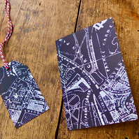 Vintage Street Map of London Greeting Card and Gift Tag