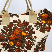 Lola Expandable Tote - Vintage Autumn Rose