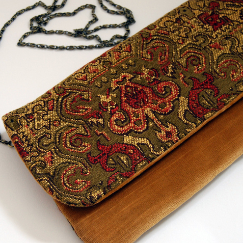 Esther fold-over clutch - Autumn opulence