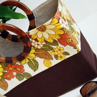 Claudine beach bag - vintage floral