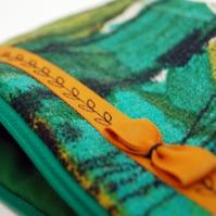 RESERVED FOR JULIA - Ruby zip pouch - vintage green
