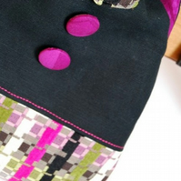 RESERVED FOR JULIA - Susan grab bag - pink and black
