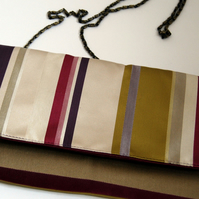 Esther fold-over clutch - Regency stripe